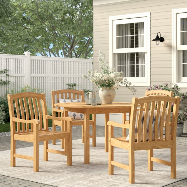 Summerton 5 Piece Teak Dining Set by Birch Lane™ Heritage