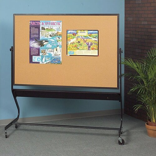 Euro Dura-Rite/Cork Magnetic Mobile Bulletin Board by Best-Rite®