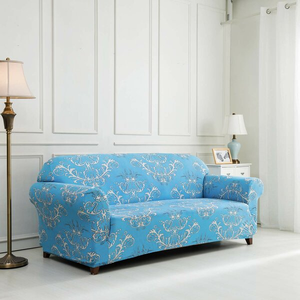 Printed Floral Box Cushion Sofa Slipcover by House of Hampton