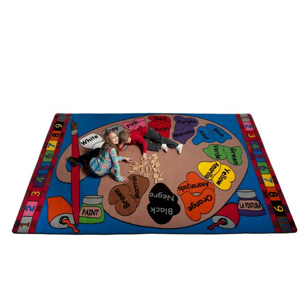 Paint Palette Spanish Circle Time Indoor/Outdoor Area Rug by Kid Carpet