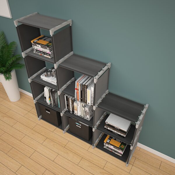 Zeledon Step Bookcase By Rebrilliant