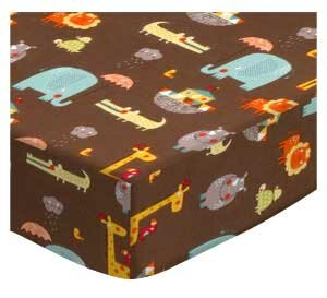 Read Reviews Noahs Ark Brown Fitted Crib Sheet By Sheetworld