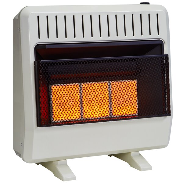 Dual Fuel Ventless Infrared 30,000 BTU Natural Gas / Propane Wall Mounted Heater with Automatic Thermostat by Avenger
