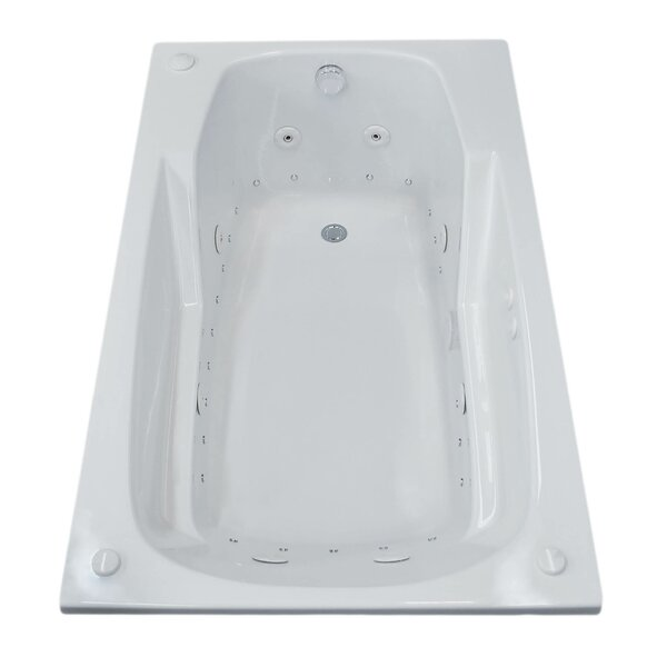 Anguilla 59 x 31.75 Rectangular Air & Whirlpool Jetted Bathtub with Drain by Spa Escapes