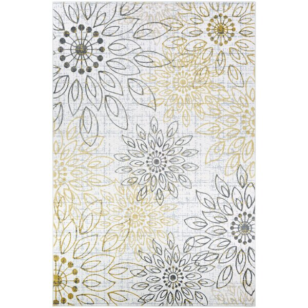 Jakes Gold/Silver Area Rug by Ophelia & Co.
