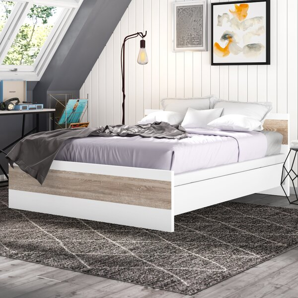 Brookston Queen Platform Bed with Mattress by Trule Teen