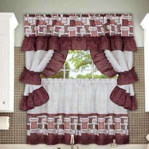 Inspiration Cottage Valance and Tier Set