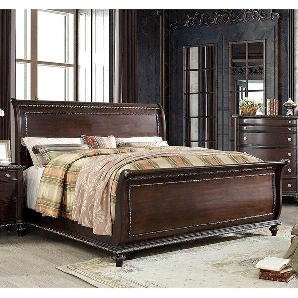 Maximilian Sleigh Bed by Astoria Grand