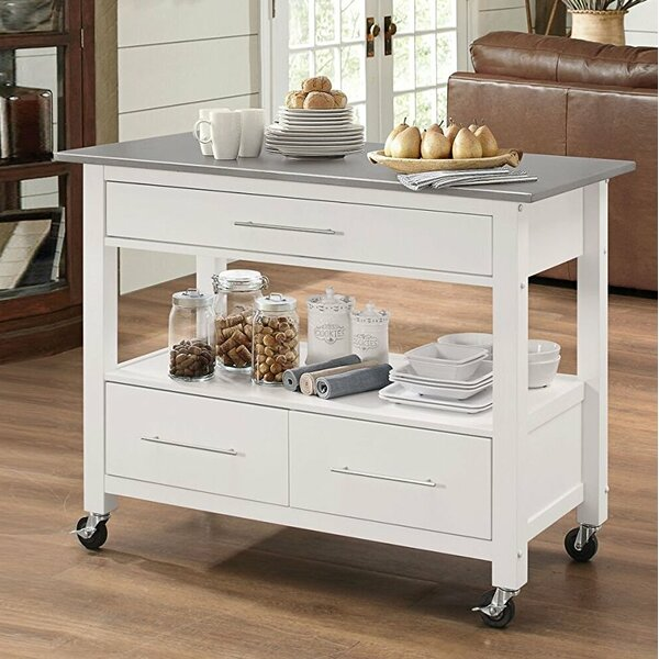 Futral Stainless Steel Wheeled Kitchen Island by Ebern Designs