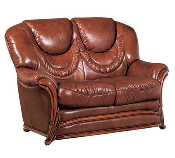 Upper Stanton Leather Loveseat By Charlton Home