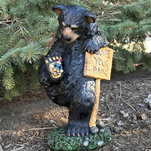 Wipe Your Paws Bear Statue by Design House