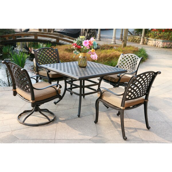 Kempf 5 Piece Dining Set with Cushions by Darby Home Co