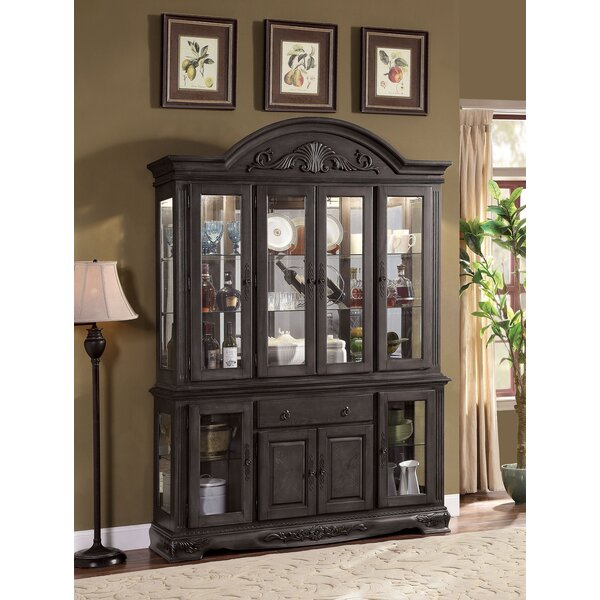 Bunnell 4-Door Hutch China Cabinet by Astoria Grand