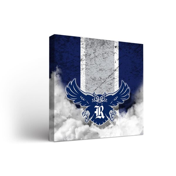 NCAA Rice Owls Vintage Design Framed Graphic Art on Wrapped Canvas by Victory Tailgate