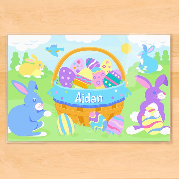 Easter Basket Boys Personalized Placemat by Olive Kids
