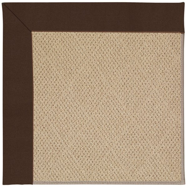 Lisle Machine Tufted Brown/Beige Indoor/Outdoor Area Rug by Longshore Tides