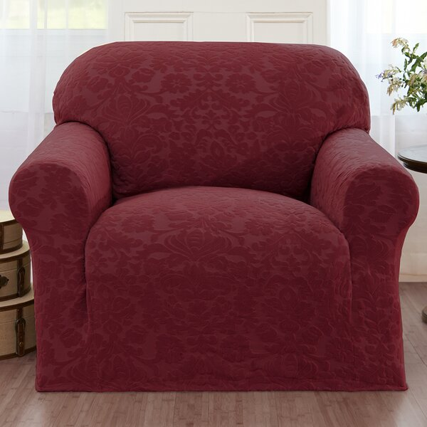Damask Box Cushion Armchair Slipcover by Alcott Hill