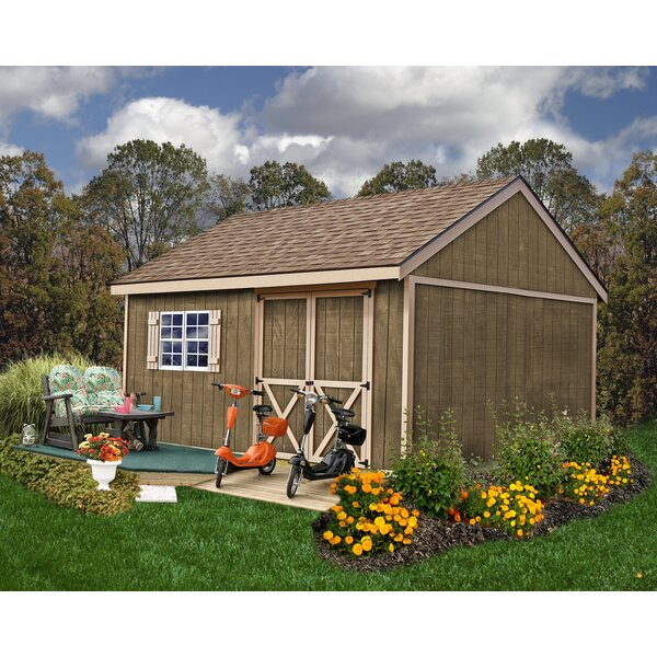 Newcastle 12 ft. W x 16 ft. D Solid Wood Storage Shed by Best Barns