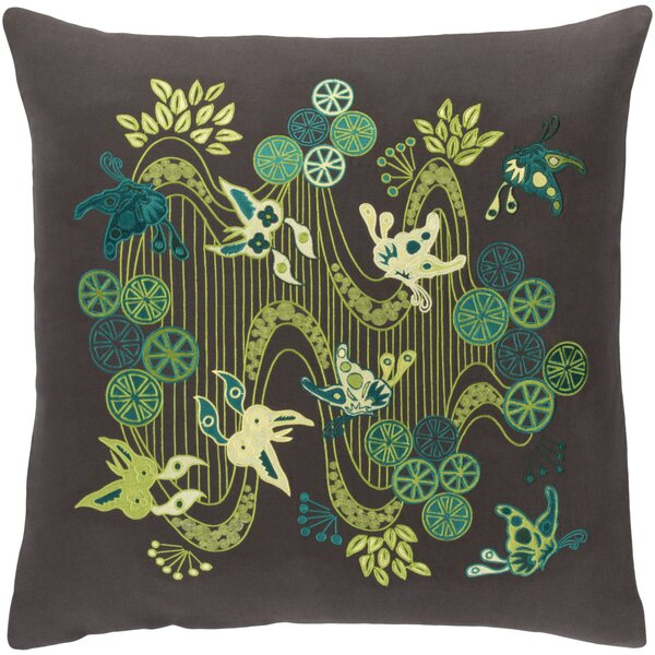 Kismet Chinese River Throw Pillow by emma at home by Emma Gardner