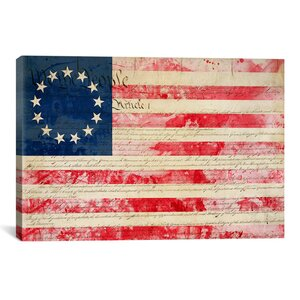 Flags Betsy Ross, U.S. Flag 13 Stars Graphic Art on Canvas by iCanvas