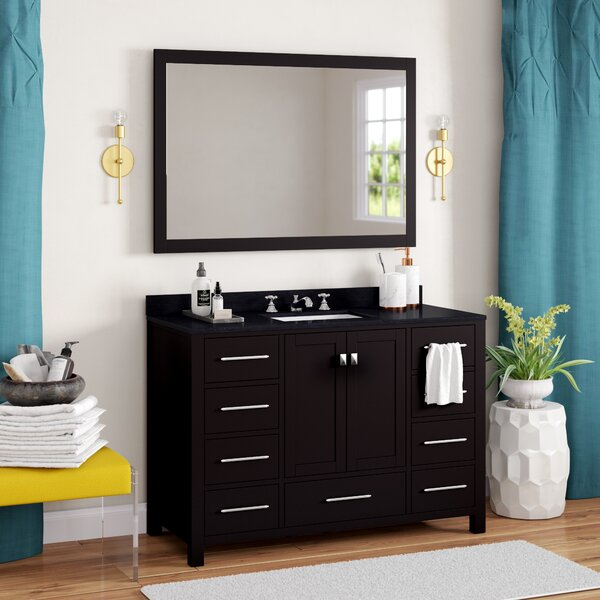 Raishon 48 Single Bathroom Vanity Set with Mirror by Willa Arlo Interiors