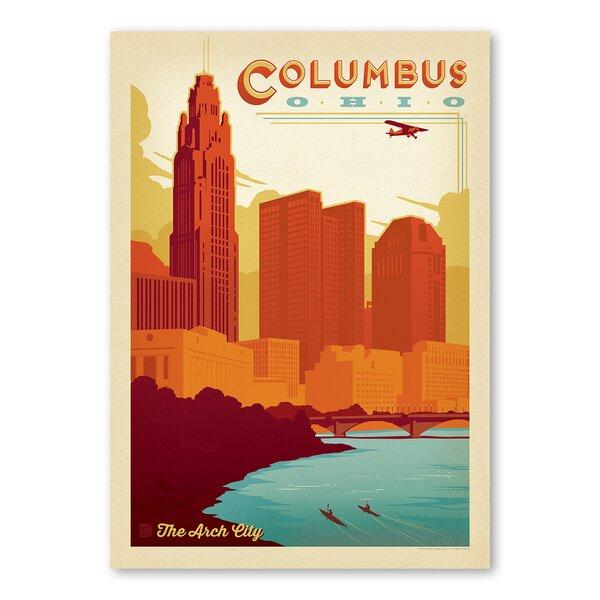 Columbus Ohio Vintage Advertisement by East Urban Home