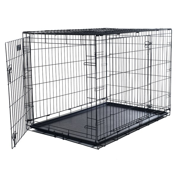 Brianna Double Door Foldable Pet Crate by Tucker Murphy Pet