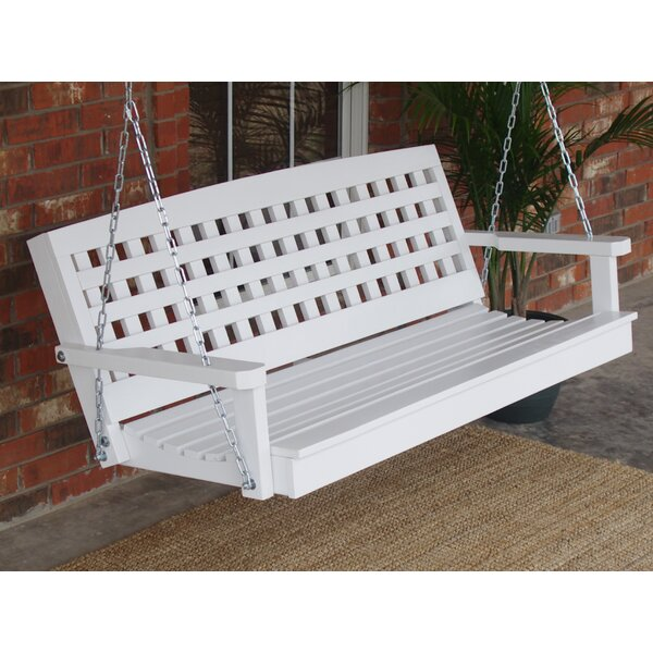 Stetson Lattice Back Style Porch Swing by August Grove