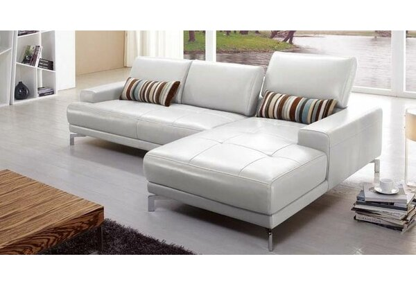 Leather Sectional by Hokku Designs