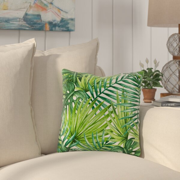 Collier Palm Leaves Outdoor Throw Pillow by Bay Isle Home