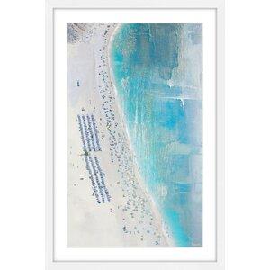'The Coast' by Parvez Taj Framed Painting Print by Parvez Taj