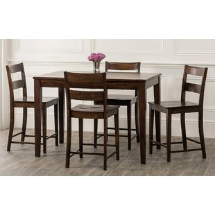Gambino 5 Piece Counter Height Dining Set By Bloomsbury Market