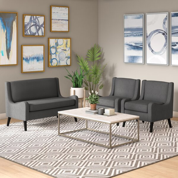 Lafrance 3 Piece Living Room Set by Brayden Studio