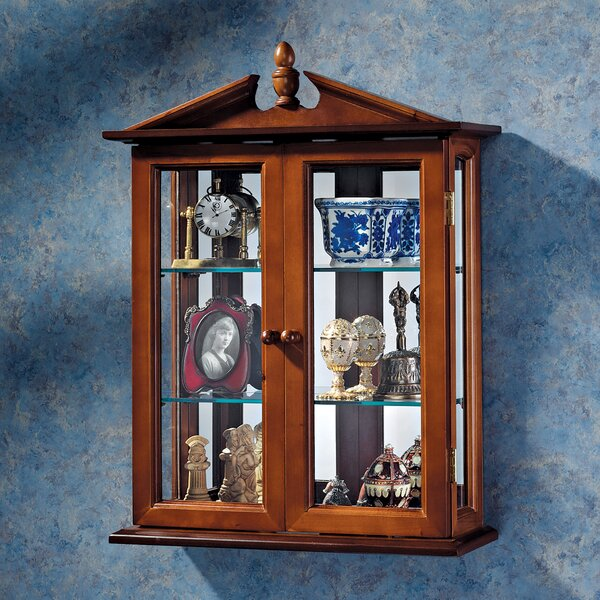 Amesbury Manor Wall-Mounted Curio Cabinet by Design Toscano