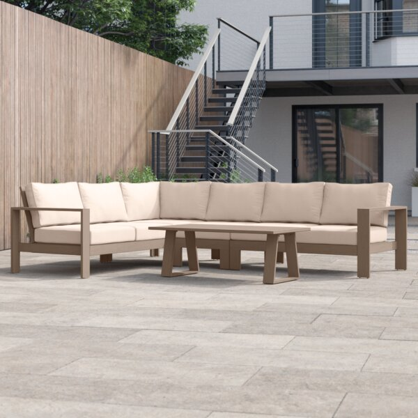 Daly 5 Piece Sectional Seating Group with Cushions by Foundstone