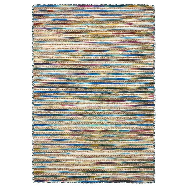 Vitagliano Striped Hand-Tufted Blue Area Rug by Millwood Pines