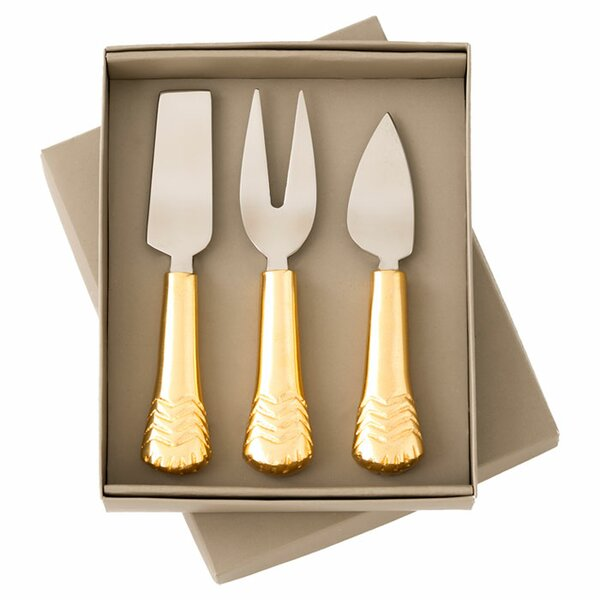 3-Piece Alice Cheese Set by Shiraleah