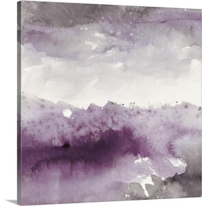 'Midnight at the Lake II Amethyst and Gray' by Mike Schick Painting Print on Canvas by Great Big Canvas