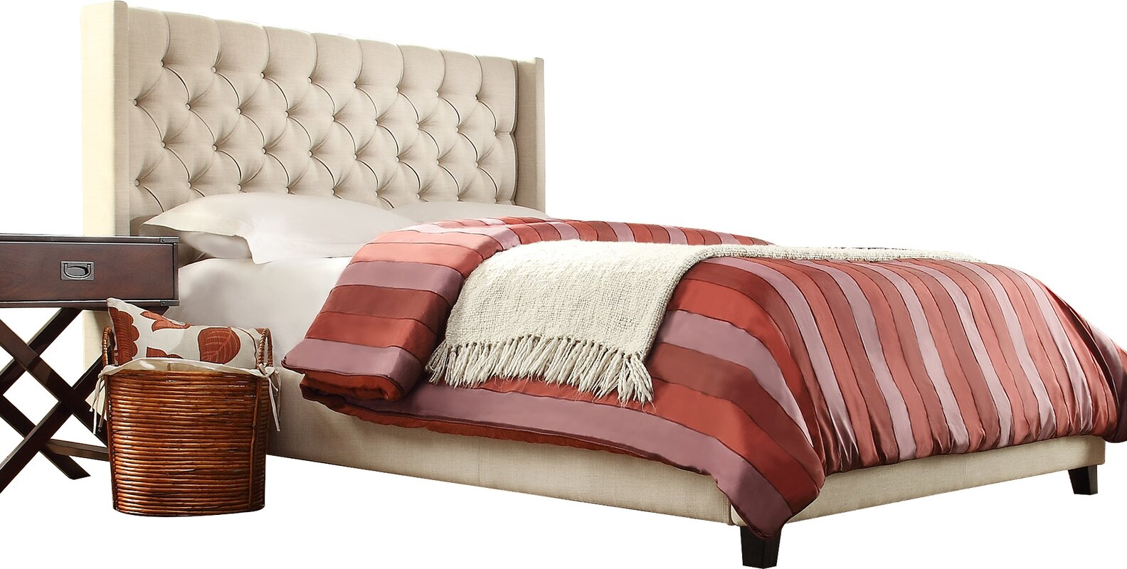 Wayfair Upholstered Panel Bed: Three Posts Declare Upholstered Panel Bed & Reviews