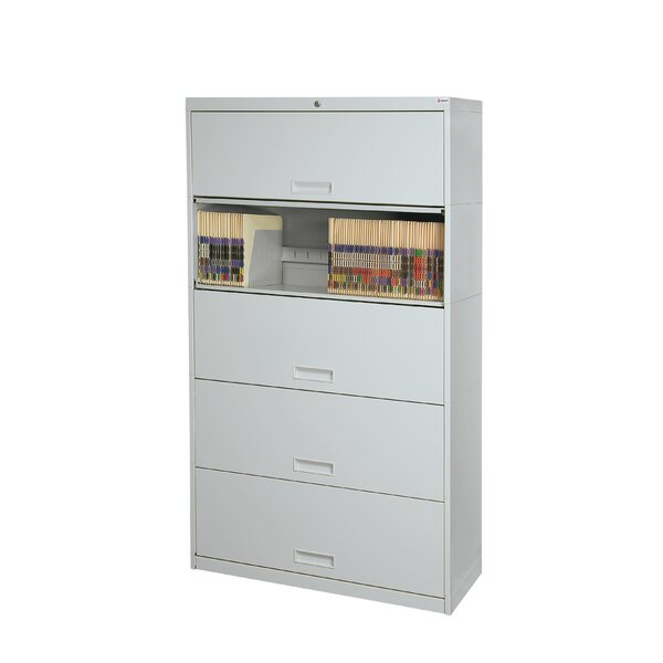 Stak-N-Lok 100 series 5 Door 36 W Legal Size and Locking High Cabinet by Datum Storage
