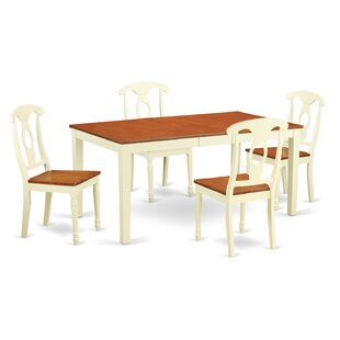 Pillar 5 Piece Wood Dining Set By August Grove