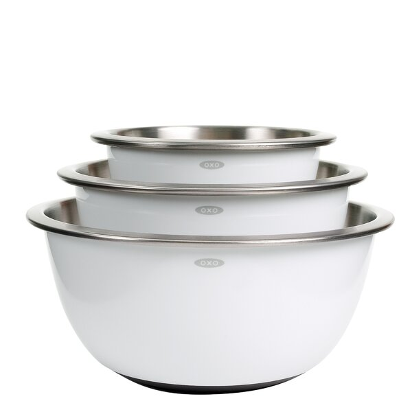 Good Grips 3 Piece Stainless Steel Mixing Bowl Set by OXO
