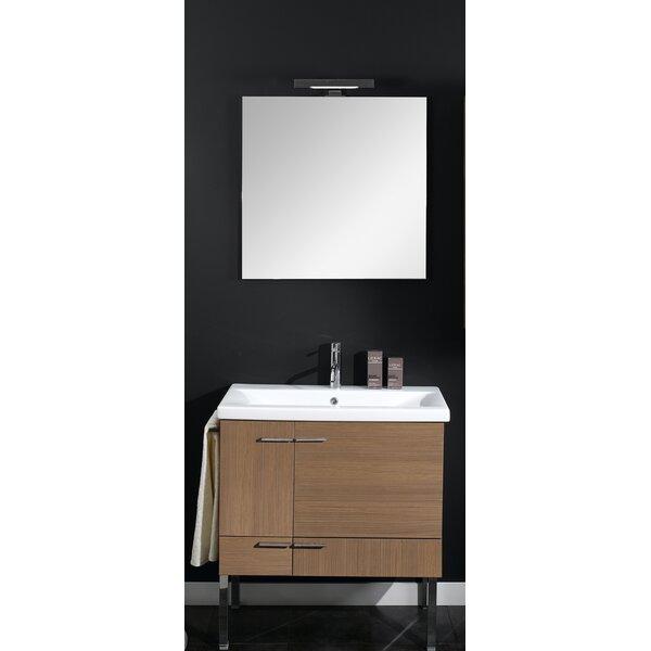 Simple 30 Single Wall Mounted Bathroom Vanity Set with Mirror by Iotti by Nameeks
