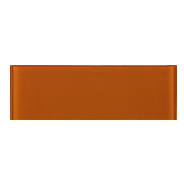 4 x 12 Glass Tile in Orange by Multile