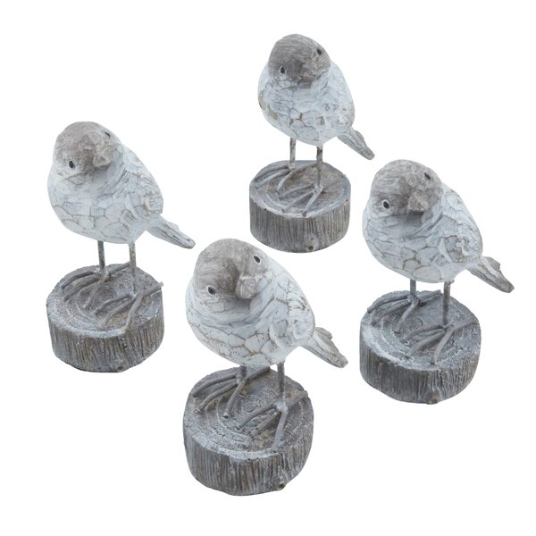 Elinor Bird Figurine (Set of 4) by Millwood Pines