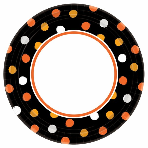 Halloween Haunt Couture Round Paper Dinner Plate (Set of 40) by Amscan
