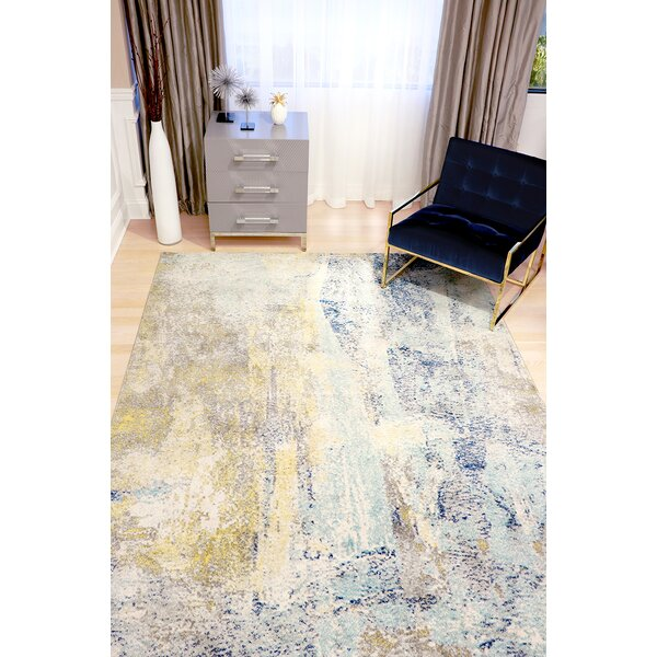 Chelsea Blue/Brown Area Rug by Pasargad