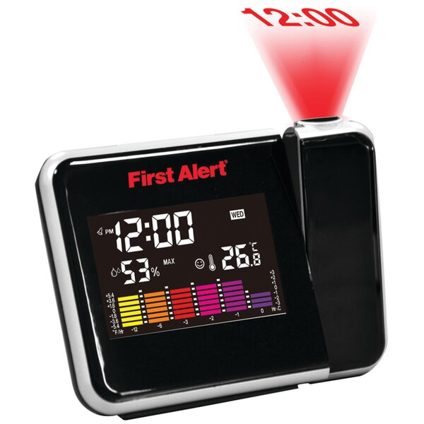 Weather Station Projection Alarm Clock by First Alert