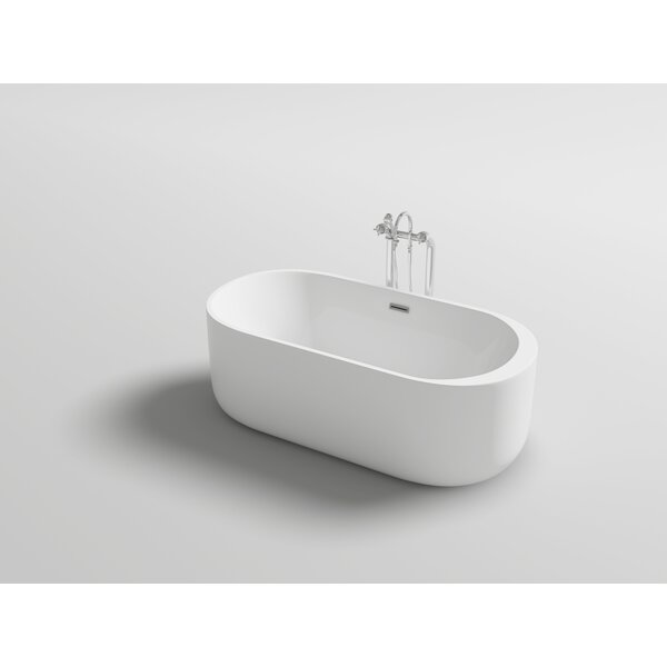 Piave 67 x 31.5 Freestanding Soaking Bathtub by Kokss