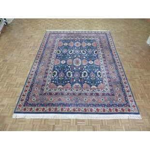 One-of-a-Kind Pellegrino Heriz Hand-Knotted Wool Blue Area Rug by Bloomsbury Market